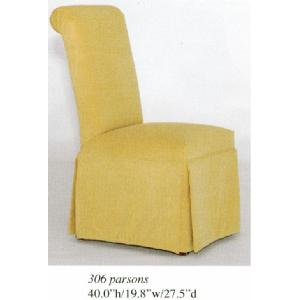 Roll Back Skirted Chair Image